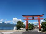 中禅寺湖と鳥居 (Small).JPG